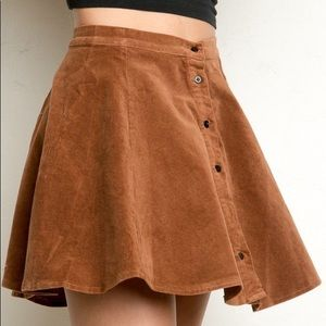 Brandy Melville brown corduroy skirt